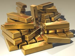 pile of gold bars